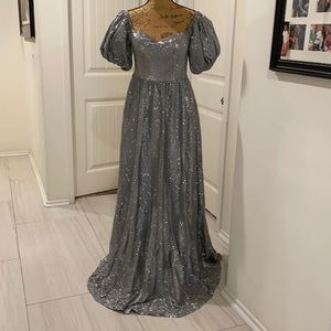 Silver color maxi Dress by Ricarica size M